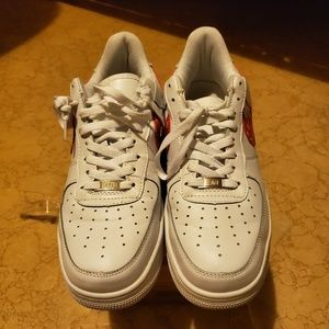 Nike Shoes - Nike Airforce 1's customs. White and red size 11